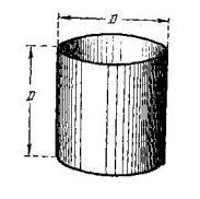 высота цистерны равна диаметру ее основания